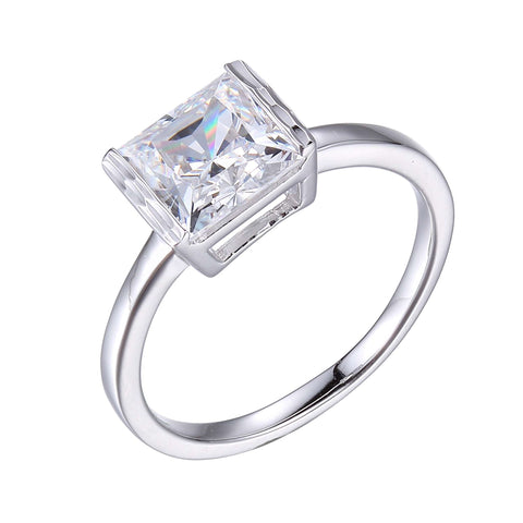 Diamondlite CZ 7mm cube ring