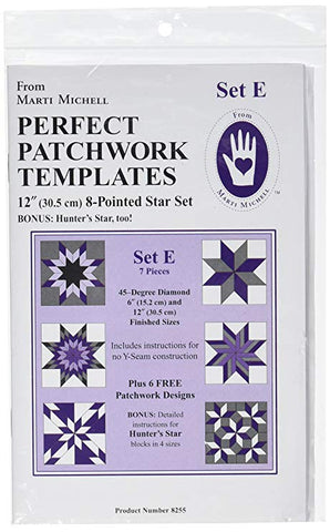 Perfect Patchwork Template Set E - Marti Michell