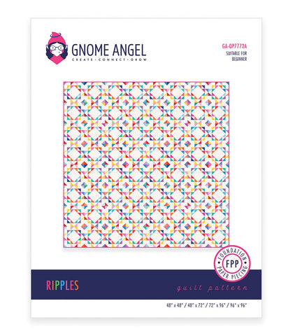 PDF: Ripples: Single Block Quilt - Foundation Paper Piece (FPP)
