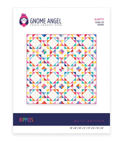 PDF: Ripples: Single Block Quilt - Machine Piece