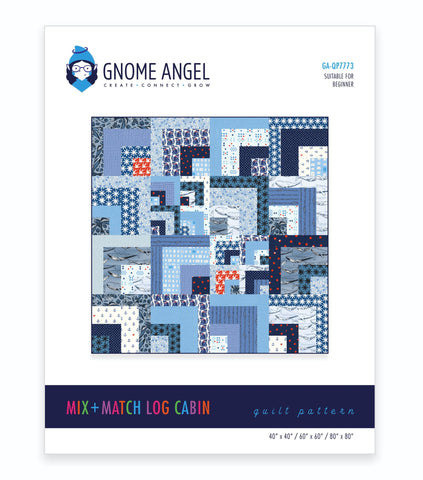 PDF: Mix + Match Log Cabin Quilt Pattern