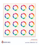 PDF: Rainbow Rings: Single Block Quilt with Pincushion and Cushion