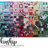 BUNDLE: Kinship: 100 Block Fusion Sampler - Machine Piece (HARD COPY) + Foundation Paper Piece (PDF)