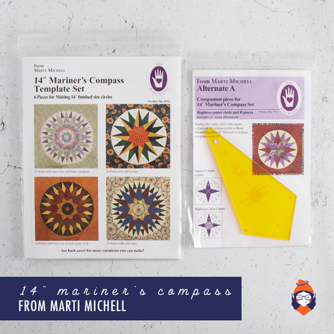 "14"" Mariner's Compass Template Set - Marti Michell"
