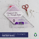 Flip Diagonal Set Triangle Ruler - Small - Marti Michell