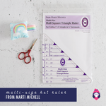 Multi-size Half-Square Triangle Ruler - Marti Michell