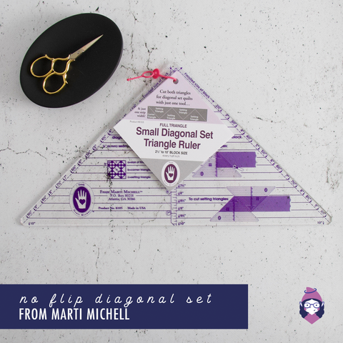 No Flip Diagonal Set Triangle Ruler - Small - Marti Michell