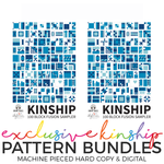PATTERN BUNDLE: HARD COPY + DIGITAL PDF FILE - Kinship: 100 Block Fusion Sampler - Hard Copy Machine Pieced + DIGITAL Machine Piece