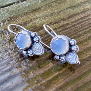 Sterling and Holly Chalcedony Earrings