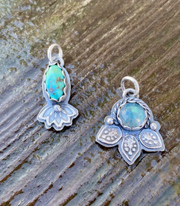 Sterling and Turquoise Pendant or Charm