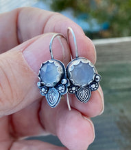 Load image into Gallery viewer, Sterling and Holly Chalcedony Earrings