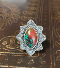 Load image into Gallery viewer, Sonoran Sunrise and Sterling Ring, Size 7.5