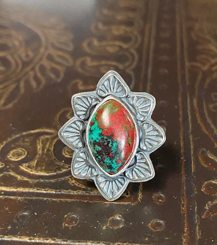 Sonoran Sunrise and Sterling Ring, Size 7.5