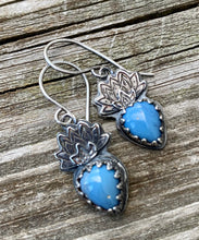 Load image into Gallery viewer, Om - Leland Blue and Sterling Silver Earrings