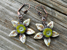 Load image into Gallery viewer, Posies - Czech Glass and Copper Earrings