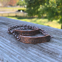 Load image into Gallery viewer, Inspiration Bracelets -Hand Forged/Stamped Copper Bracelets