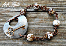 Load image into Gallery viewer, Another Key - Mixed Metal and Dzi Agate Bracelet