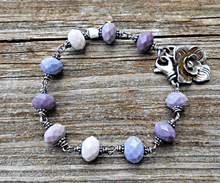 Load image into Gallery viewer, Wintery Mauve - Glass and Sterling Bracelet