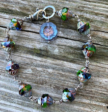 Load image into Gallery viewer, Mystic - Czech Glass and Sterling Silver Bracelet