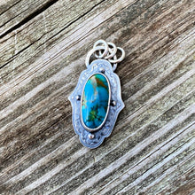 Load image into Gallery viewer, Turquoise Mountain and Sterling Silver Pendant