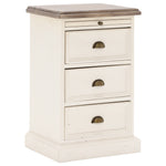 Country Cottage 3 Drawer Bedside Table