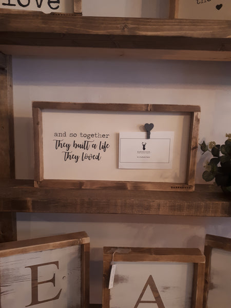 "Photo Frame - ""And so they built a life they loved"""