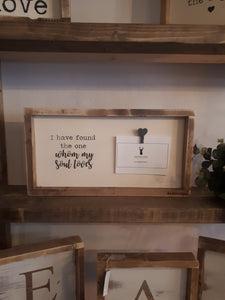 "Photo Frame - ""I have found the one whom my soul loves"""