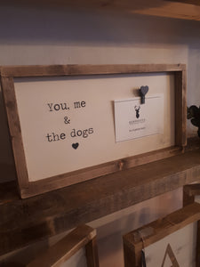 "Photo Frame - ""You, me & the Dog"""