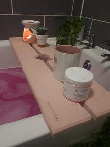 PINK HEART BATH RACK