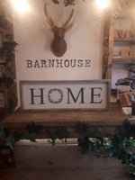"""HOME"" Farmhouse Sign"