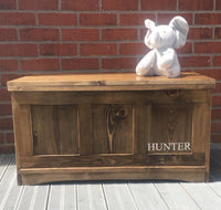 TOY BOX/BEDDING BOX - EDWARDIAN TOY CHEST