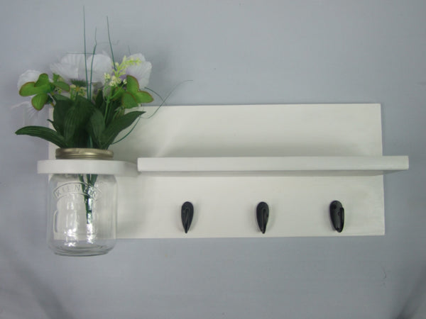 COTSWOLD KEY ORGANISER WITH SHELF & MASON JAR