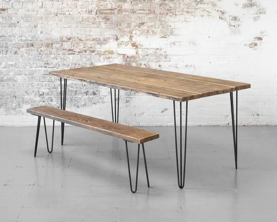 HAIRPIN DINING TABLE WITH BENCH OPTION