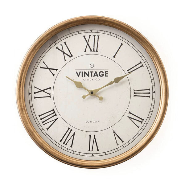 GOLD NUMERAL WALL CLOCK
