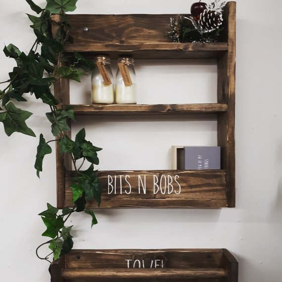 FARMHOUSE WOODLAND SHELVING UNIT