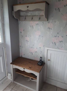COAT HOOK & BENCH - DOVE COTTAGE