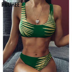 RUUHEE Vintage Retro Bikini 2020 Women Swimwear printed Swimsuit Push Up Bathing Suit Sexy Bikini Set Padded Beachwear Biquini