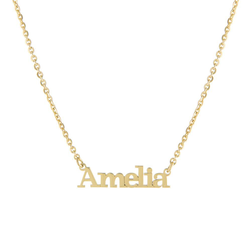 One Name Capital first with Block letters Gold or Platinum finish Necklace