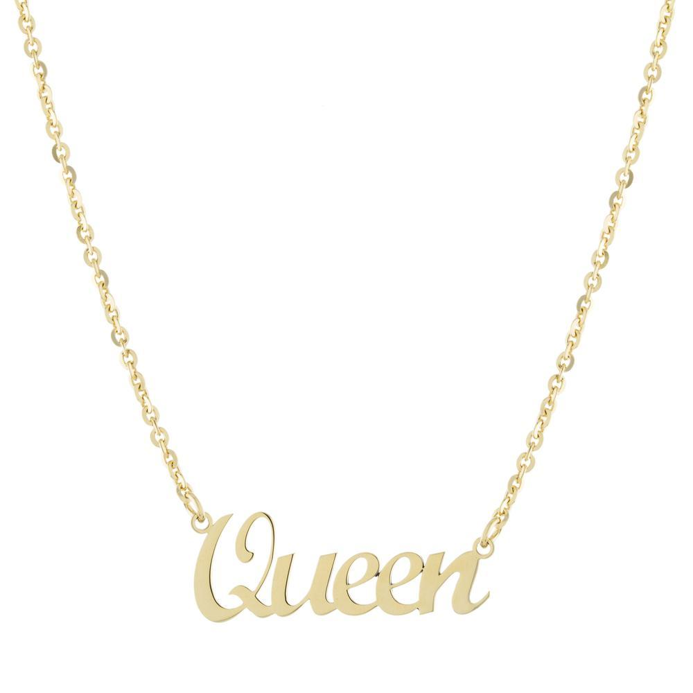 One Name with Cursive letters Gold or Platinum finish Necklace