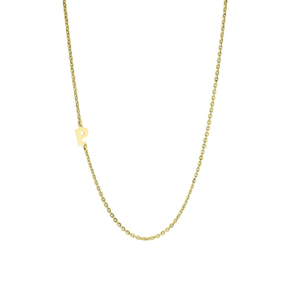 One letter Gold or Platinum finish Necklace
