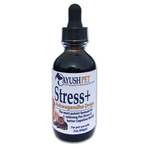 Ayush ASHWAGANDA PET DROPS for stress and cognitive issues - 2oz