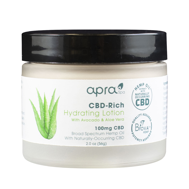 Apra CBD-Rich Hydrating Lotion With Avocado And Aloe Vera - 2.0 oz.