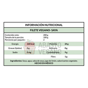 Filete vegano - Saya