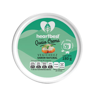 Veggicheez queso crema sabor natural - Heartbest