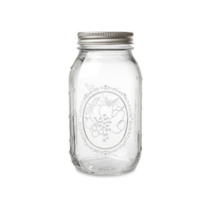 Frasco Mason Jar de 32 onzas (946ml) Boca Regular