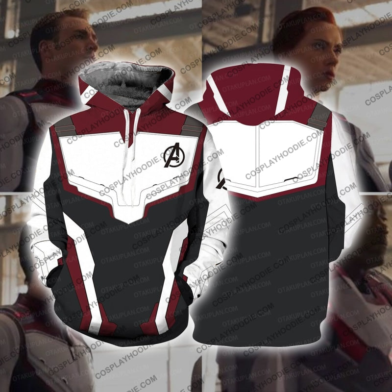 The Avengers 4 Avengers: Endgame Quantum Suits White Suit Cosplay Long Sleeves Hoodie / Us Xs (Asian