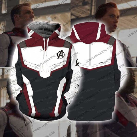 Image of The Avengers 4 Avengers: Endgame Quantum Suits White Zip Up Hoodie Cosplay Jacket / Us Xs (Asian S)