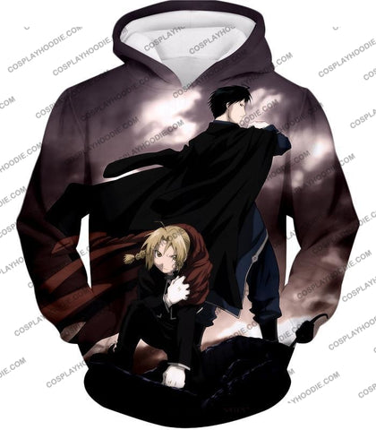 Image of Fullmetal Alchemist Amazing State Alchemists Edward X Roy Awesome Anime T-Shirt Fa001 Hoodie / Us