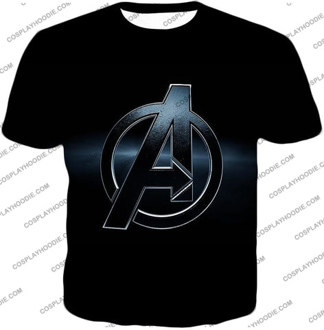 Image of The Avengers Awesome Black Logo T-Shirt Ta001 / Us Xxs (Asian Xs)