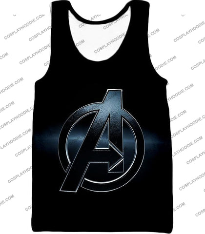 Image of The Avengers Awesome Black Logo T-Shirt Ta001 Tank Top / Us Xxs (Asian Xs)
